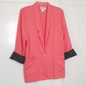 Vintage 1980s Oversized Pink Blazer